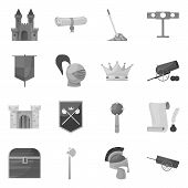 Vector Design Of Heritage And Ancient Icon. Collection Of Heritage And Culture Vector Icon For Stock poster