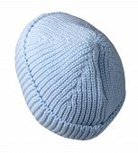 Light Blue Woman  Hat Isolated On White Background .womens Beach Hat . Colorful Hat Top Back Side Vi poster
