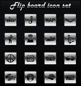 Rap Vector Flip Mechanical Icons For User Interface Design poster