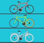 Vintage Retro Bicycle And Style Antique Sport Old Fashion Grunge Flat Pedal Ride Riding Bike Transpo poster