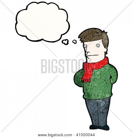 cartoon man in scarf