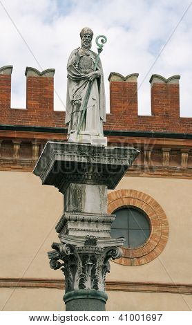 Statue Of Sant 'vitaly In Ravenna
