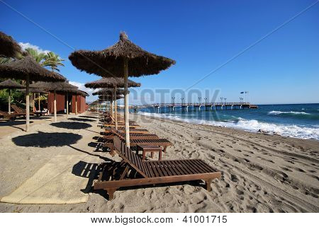 Daitona beach, Marbella, Andalusia, Spain.