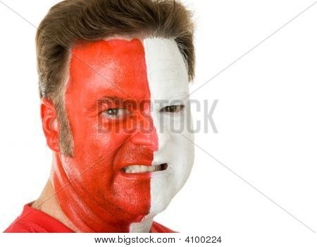 Sports Fan In Face Paint