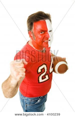 Painted Sports Fan Aggressive