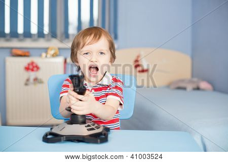 Baby Boy Screaming When Playing Computer Games