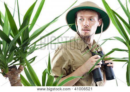 Explorer Wearing Pith Helmet