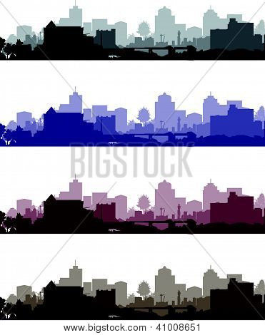 set of cityscapes