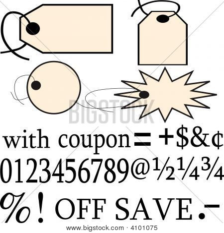 Sale Tags And Text