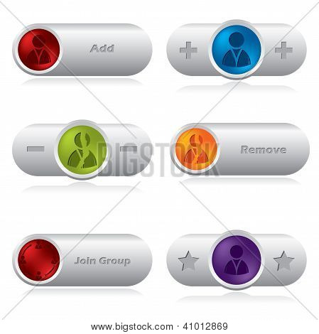 Various Social Network Buttons