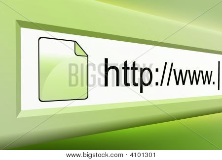 Green Internet Url Text