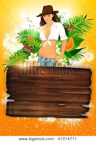 Tropical Party Or Holiday Background
