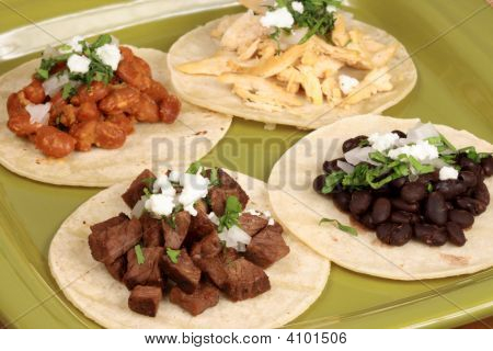 Assorted Mexican Tacos