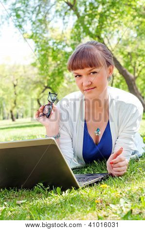 portrait of a woman witha laptop