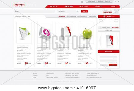 Professional website template. Vector format in portfolio.