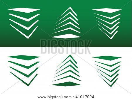 Abstract Stack or Structure Icon Vector Both Solid and Reversed.
