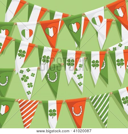 Irish Bunting Background