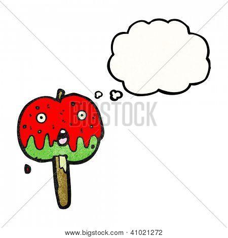 cartoon toffee apple