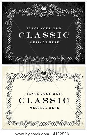 Vector Ornament Frames Set. Easy to edit. Perfect for certificates, invitations or announcements.