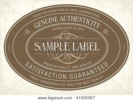 Vector Classic Seal Frame. Easy to edit. Perfect for labels, invitations or announcements.