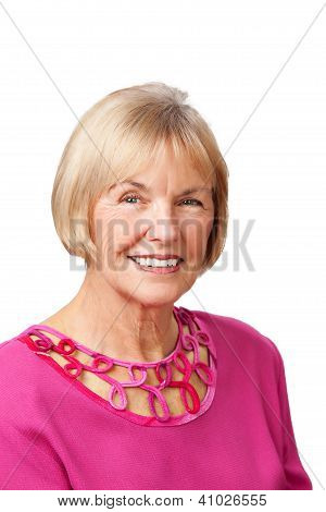 Portrait of pretty senior woman