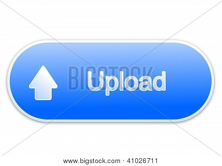 Upload button blue (elipse)