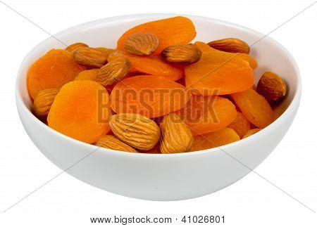 Mixed Almonds And Dried Apricots