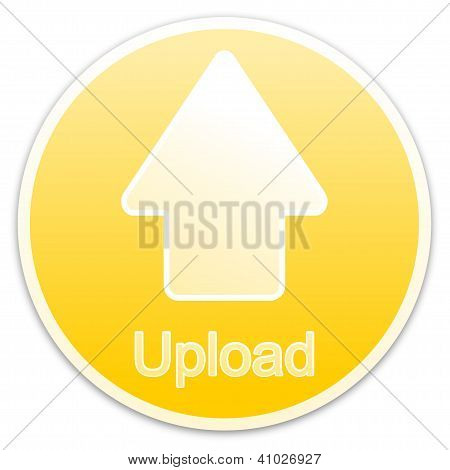 Upload button yellow (circle)