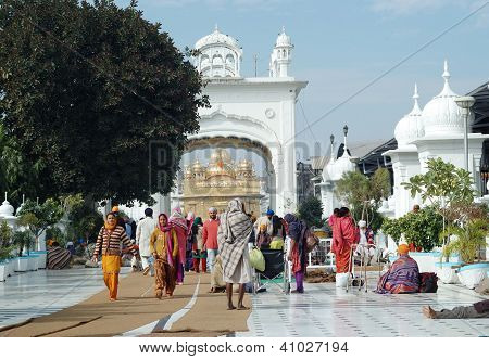 Worshippers Are Visiting Famous Golden Temple,Amritsar,India