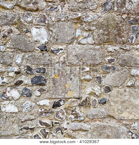 Detalle de la pared de piedra