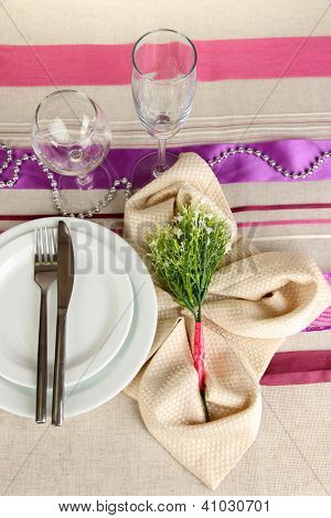 Table setting festive table
