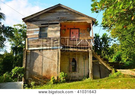Old Worn Caribbean House