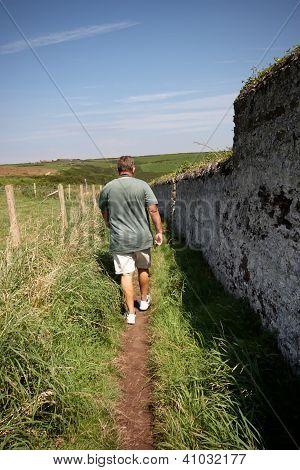 A Mature Man Walking