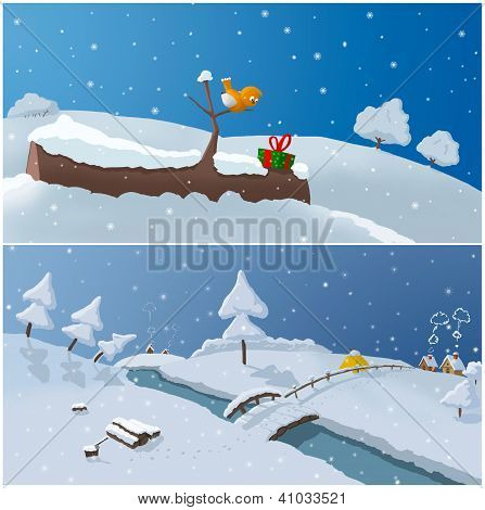 Two  Winter Illustrations