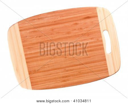 Empty wooden hardboard isolated on white background