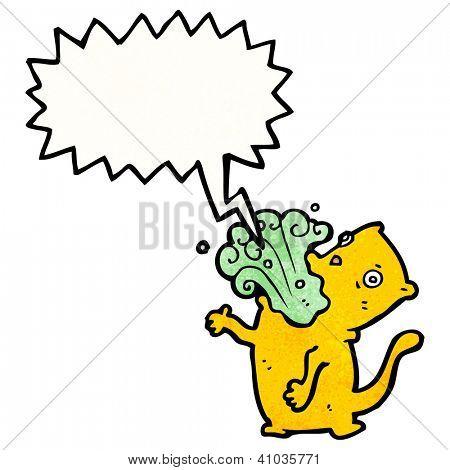 cartoon cat burping