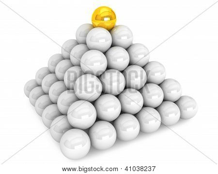 Pyramid With Golden Ball
