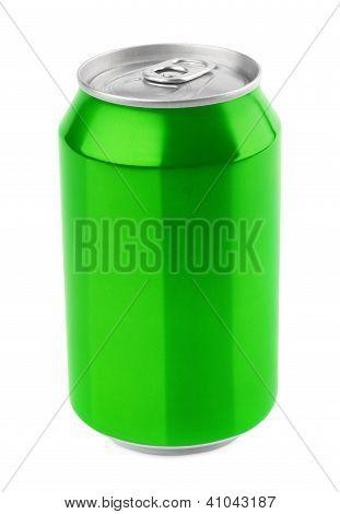 Green Aluminum Can
