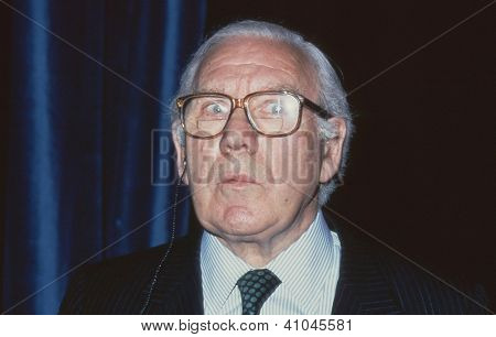 LONDON - MAY 21: Lord King of Wartnaby, Chairman of British Airways, attends a press conference on May 21, 1991 in London. He died in July 2005.