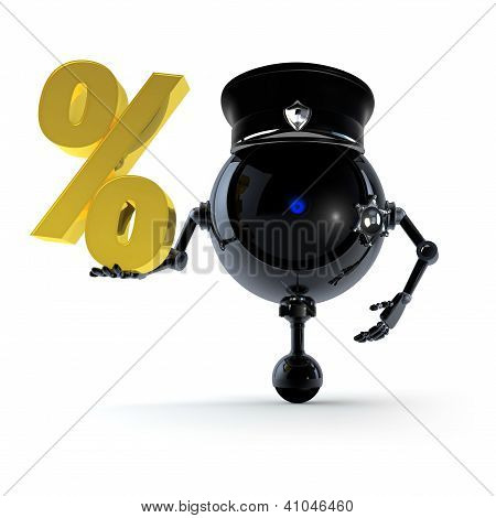 Robot Keep Question Percent Sign