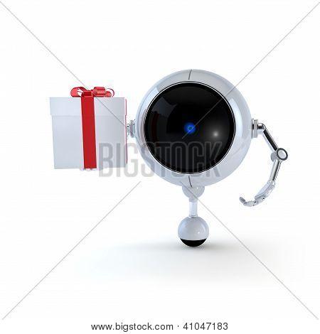 Robot mantenga regalo