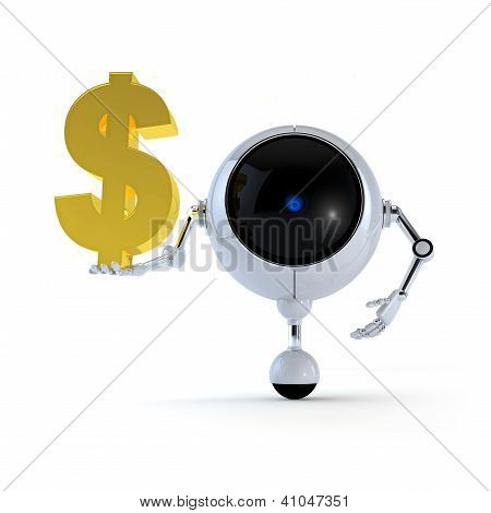 Robot Keep Dollar Sign