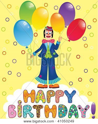Clown With Festive Balloons