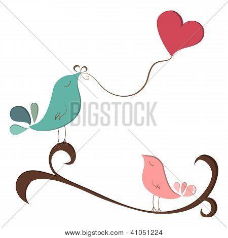 Beautiful Birds In Love
