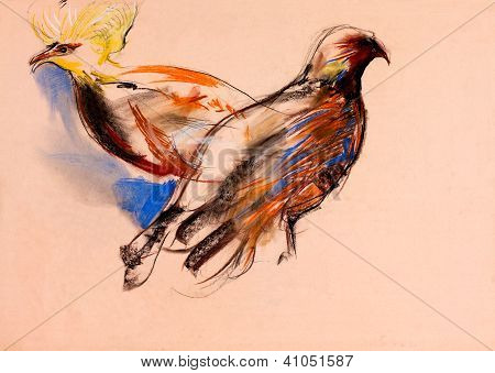 Malerei von Vögeln