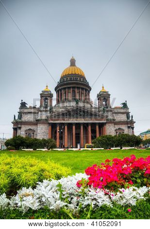 Saint Isaac's Cathedral (isaakievskiy Sobor) In Saint Petersburg, Russia