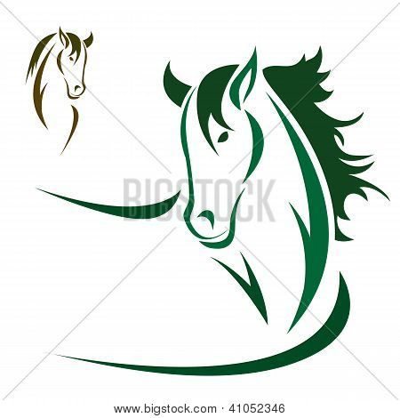 Vector head of horse