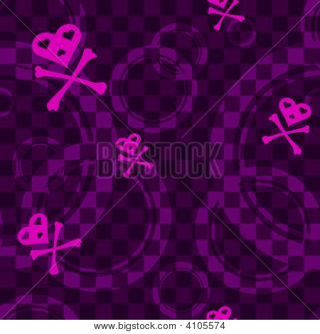 Purple Emo Seamless Pattern With Circles