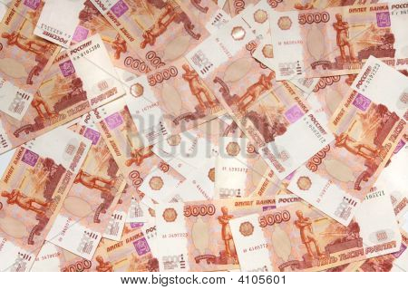 5000 Russian Roubles Background.