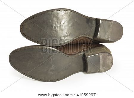 Soles Of Cowboy Boots Isolated On White